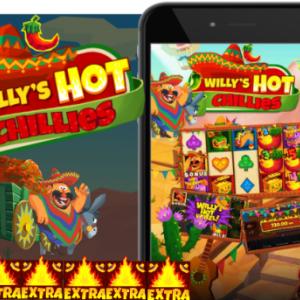 【Willy's Hot Chillies】連結ワイルドがリールを回る$低リスクで勝利を狙える2,000倍!