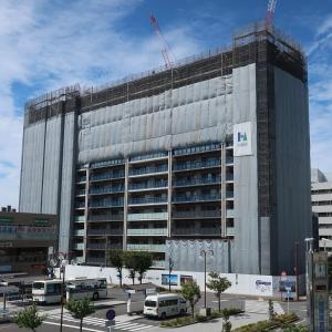駅前徒歩1分『プラウド近江八幡』建設中_2019年9月の状況