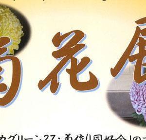 野間清六邸で『菊花展』を開催中(2019年)