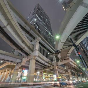 サンシャイン前(東池袋IC)インターチェンジの夜景(東京都豊島区)