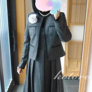 卒業生の保護者コーデ♪体型カバーワンピーススーツ