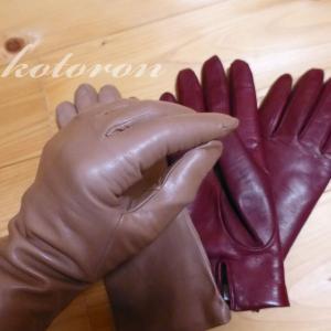 アンティークローズの革手袋♪