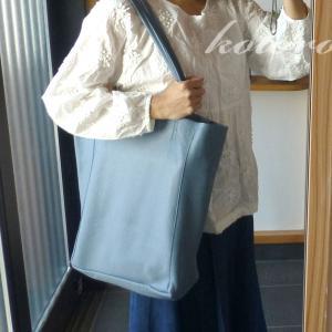 イタリア製本革トートバッグは、大容量♪