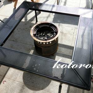 LOGOS アイアン 囲炉裏テーブルを常設