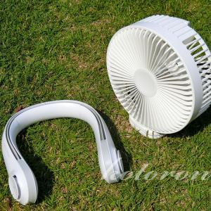 夏キャンプの暑さ対策に、USB充電式扇風機