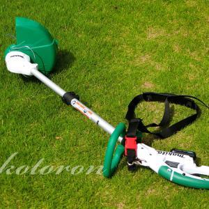 女性でも楽々「マキタ充電式草刈機」安全で軽い!