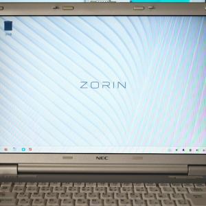 旧型ノートパソコン、OSをLinuxへ