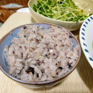 土鍋で炊いた十八穀米とビーフシチューを食う愉快なおっさん