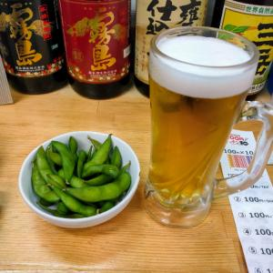 西天下茶屋の立ち飲み屋100円和で酒を飲む愉快なおっさん
