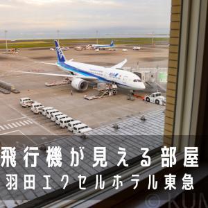 飛行機が丸見えの部屋に泊まってみた!「羽田エクセルホテル東急」宿泊記