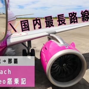 【新千歳→那覇】国内最長路線が激安999円!最新鋭の飛行機で運航されるLCCピーチ(APJ)A320neo搭乗記
