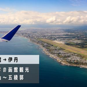 【函館→伊丹】飛行機の中でも観光気分。全日本空輸(ANA)ボーイング737-800搭乗記