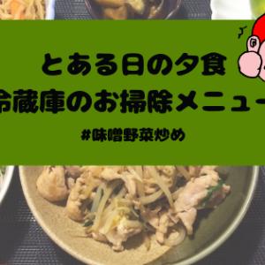 簡単レシピ付き『とある日の夕食』味噌野菜炒め