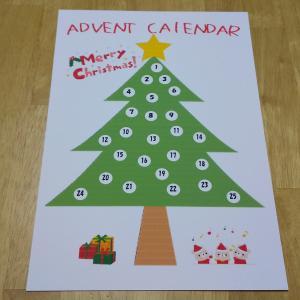 クリスマスのアドベントカレンダーを作りました