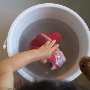【おうちモンテ】靴を洗うお仕事(3歳)