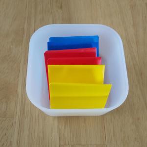 【おうちモンテの手作り教具】色板の第1の箱と第2の箱をおりがみで作りました