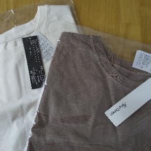 シンプルなフレンチスリーブのTシャツを購入しました♪