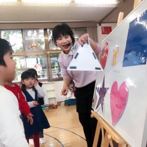 英語でリトミック 園児さんクラス 形のレッスン