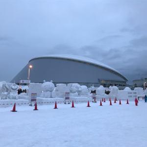 【子連れ旅行】札幌雪まつり2泊3日②つどーむ会場で遊ぶ