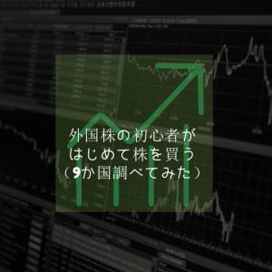 【投資】外国株の初心者がはじめて株を買う(9か国調べてみた)