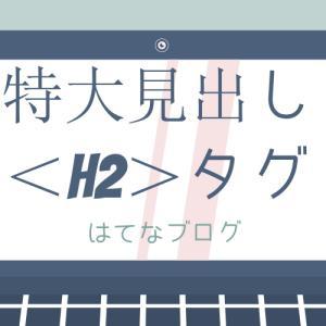【ブログ運営】はてなブログで、特大見出し<h2>タグを追加で設定してみた❗