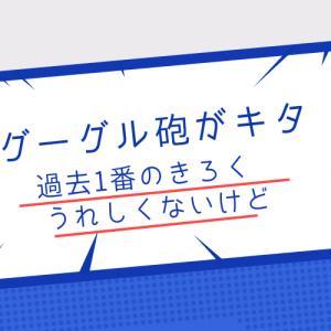 【ブログ運営】グーグル砲がキタ――(゚∀゚)――!!過去で1番この記録は破られない❗