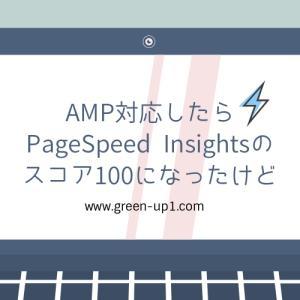 【ブログ運営】AMP対応にしたらPageSpeed Insightsのスコア100になったけど(気になって眠れないことはない!)