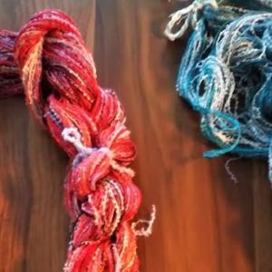 シルク糸を経糸に入れたストール