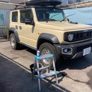 シエラくんの洗車