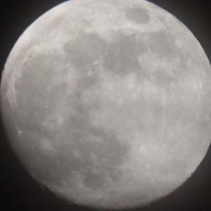 月齢12.8のお月様とISS・Canon EOS Kiss X10編