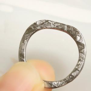 ウィッドマンシュテッテン構造の復活!!ギベオン隕石で指輪作り