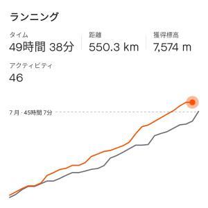 2021年8月まとめ:500km突破