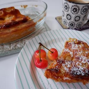 簡単スイーツレシピ:さくらんぼのクラフティ