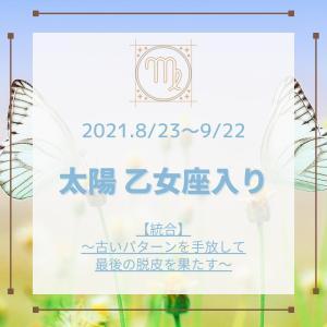 【8月23日~9月22日】乙女座シーズン 【統合】~古いパターンを手放して最後の脱皮を果たす~