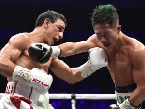 WBC世界バンタム級王座統一戦 ノルディーヌ・ウバーリ VS 井上拓真
