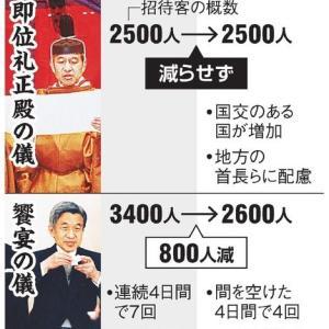(ニュース)歴史伝える、即位礼正殿の儀 外インターネットでも中継も予定「日本中が見守る1日」