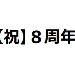 【祝】無職8周年。無職歴も9年目に突入。