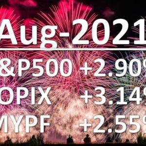 2021年8月 月次運用レポート、華麗なるV字回復で月間163万円の増♪なんだかんだ増えていました。