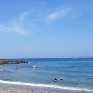 いきなり海水浴(銅網海岸) 三崎漁港散歩