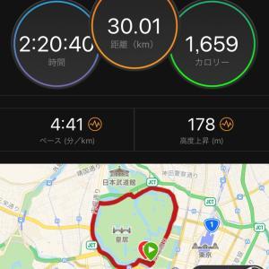 皇居35km走で脇腹に激痛