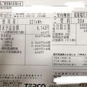 【光熱費考察】9月電気代をふり返る
