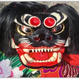 徳島県美馬市の秋祭り、獅子舞