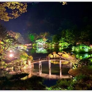 夜の栗林公園