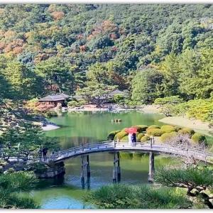 飛来峰(ひらいほう) 栗林公園を代表する景観
