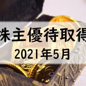 2021年5月 優待クロス 最終 + 現物保有分の紹介