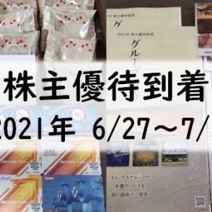 2021年 株主優待品の到着(6/27~7/3分)