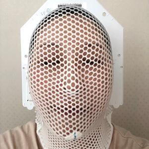 【8/13】肺の放射線⑩+右首追加③(入院18日目)~最後のデスマスク〜