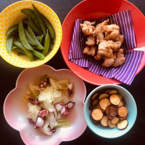 鶏トロとおやつ芋★ペペロンチーノ