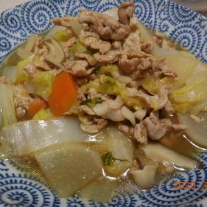 豚肉と大根・白菜の炒め煮