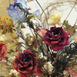 2019.10/17から19.奈良にて、クレイのお花の展示会。